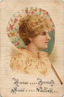 Carte Postale Cartonnee ..amour...jeunesse...amitie...vieillesse.... - Women