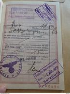 Passeport République Française Très Bon état SERRE Née 1897 Thuir, Montpellier 1937 Salzburg Sortie Ponts Du Rhin - Autres