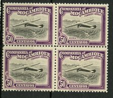 Mozambique Company 1935 50c Air Mail Issue #C8  MNH  Block Of 4 - Mozambique