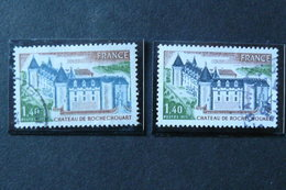 France - Yvert N° 1809 & 1809a Oblitérés - Variété : Toit Du Château Bleu Pâle Au Lieu De Bleu-gris - Varieties: 1970-79 Used