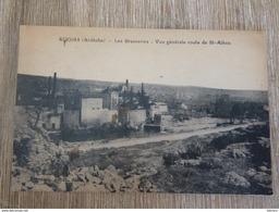 CPA RUOMS Ardèche 07 Les Brasseries Vue Générale Route De St-Alban - Ruoms