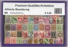 Allemagne Fédérale - Occupation Alliée - Petit Lot De 50 Différents - Berlin - Sachsen - Baden - Zone Française - Timbres