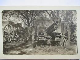 Guerre 1914-18 - CANONS Dans Sous-Bois - Photographie Originale 7 X 11 - TBE - War, Military
