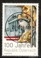"""Österreich 2018: """" 100 Jahre Republik Österreich"""" Gestempelt - Briefmarken"""