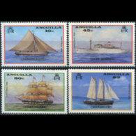 ANGUILLA 1986 - Scott# 696-9 Ships Set Of 4 MNH - Anguilla (1968-...)