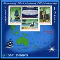 GILBERT IS. 1977 - Scott# 303a S/S Capt.Cook MNH - Gilbert & Ellice Islands (...-1979)