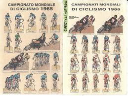Sport Ciclismo Campionati Mondiali Di Ciclismo 1965 1966 Pista Strada ( Two Cards) - Ciclismo