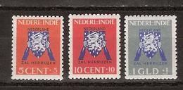 Nederlands Indie Netherlands Indies Dutch Indies 290-292 MNH ; Vrij Nederland Zegels 1941 - Nederlands-Indië