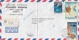 DJIBOUTI - LETTRE Recommandée Du 28/09/1992 (avec N°663D) - Gibuti (1977-...)