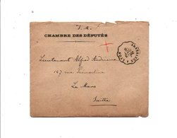 AMBULANT DE AMBERIEUX A LYON DU 13/10/1918 - Marcophilie (Lettres)