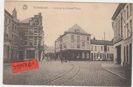 Tienen, Thienen, Tirlemont,Special Hoek Grote Markt Met Tramspoor, Delhaize En Stukje Vox, Zeldzaam! - Tienen