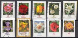 West-Duitsland - 5.000 Zegels - Blumen/Bloemen - O - Onafgeweekt/op Fragment - Stamps