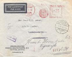 "Indonesia 1950 Djakarta / Batavia Meter Franking 210  Francotyp ""A"" Cover M# 200-206, 210 Known - Indonesië"