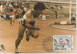 Grèce Carte Maximum 1982 Athlétisme 1463 - Maximum Cards & Covers