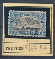 BELGIAN CONGO  BOX 2 1909 ISSUE COB 30 PB2  LH THINNED AMINCI - 1894-1923 Mols: Nuevos