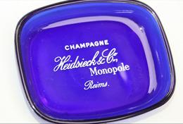 """Cendrier En Verre """"Champagne Heidsieck & Co - Monopole - Reims""""  Marque Opalex - Glass"""
