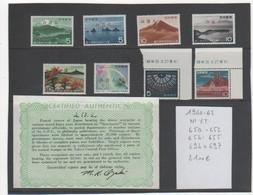 JAPON 1960-62 LOT De SPECIMEN NEUFS** - Unused Stamps