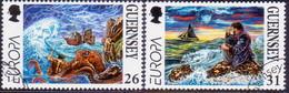 GUERNSEY 1997 SG 735-36 Compl.set Used Europa - Guernsey