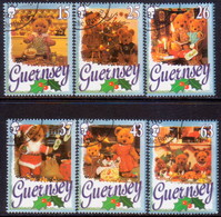 GUERNSEY 1997 SG 747-53 Compl.set+m/s Used Christmas - Guernsey
