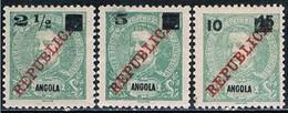 Angola, 1912, # 113/5, MH - Angola