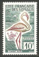 375 Cote Des Somalis 1957 Flamant Rose Flamingo MNH ** Neuf SC (f3-CDS-38) - Flamingo