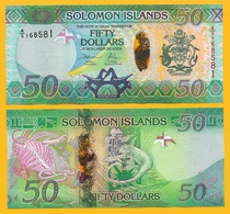 Solomon Islands 50 Dollars P-35 2013 UNC - Isola Salomon