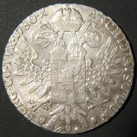 A60047 Austria: Maria Theresa Silver Thaler Restrike Variant, Dated 1780 S.F.; Size: 39.5mm; Weight: 28g. Lacking Rim Fr - Albania