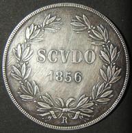 A60065 Italy > Papal States: 1 Scudo 1856-R, W/leg. PIVS IX PONT | MAX AN XI & Right Facing Bust; Rev. SCUDO 1856. Minte - Albania