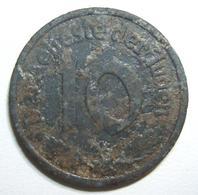 A60082 Poland: Litzmannstadt (Lodz Ghetto) 10 Pfennig 1942 Type-1 Coin In Magnesium; Size: 21.25mm; Weight: 0.95g. Coin  - Albania
