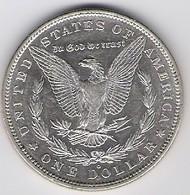 A60088 US Silver Morgan Dollar, 1880 O. Almost Uncirculated AU-58 - Albania