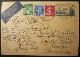 A60959 1940 Fall Of France / Incoming Internee Mail: 20 MAY 1940 Uprated Airmail Postcard In German From Jewish Internee - WW2