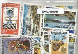 Lot 100 Timbres De Djibouti - Djibouti (1977-...)