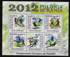 MOZAMBIQUE  Feuillet    * *  Euro 2012    Football  Soccer Fussball Stade - Championnat D'Europe (UEFA)