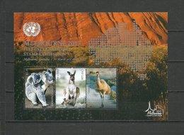 UNITED NATIONS (NEW YORK, GENEVA, VIENNA)  2017  Fauna Of Australia SS Perf. - Timbres