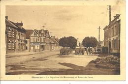 SISSONNE - Carrfour Du Monument Et Route De Laon - Sissonne