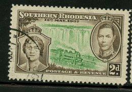 Southern Rhodesia 1937 2p Queen Elizabeth, George VI Issue #39 - Rhodésie Du Sud (...-1964)