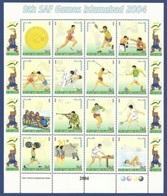 Soccer Football 2004 Pakistan KB 1189/1204 MNH ** SAF Games In Islamabad - Football