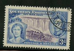 Southern Rhodesia 1937 3p Queen Elizabeth, George VI Issue #40 - Southern Rhodesia (...-1964)
