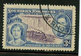 Southern Rhodesia 1937 3p Queen Elizabeth, George VI Issue #40 - Rhodésie Du Sud (...-1964)