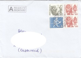 SCHWEIZ - 4 Fach MIF Auf Brief Gel.v.Schaffhausen > Wien - Switzerland