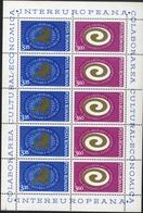 ROMANIA  1972 International Cultural Cultural Collaboration COLABORAREA CULTURAL ECONOMICĂ Commemoratives Sheet, MNH, OG - Blocs-feuillets