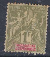 Madagascar N° 40 (.) 1 F. Olive Et Rouge, Neuf Sans Gomme Sinon TB - Madagascar (1889-1960)