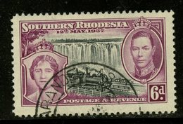 Southern Rhodesia 1937 6p Queen Elizabeth, George VI Issue #41 - Southern Rhodesia (...-1964)