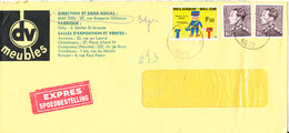 Belgium Cover Sent Express To Italy Gilly 16-6-1970 - Belgium