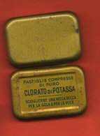 Scatolina Latta Di Pastiglie Clorato Di Potassa - Scatole/Bauli