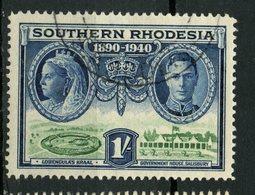 Southern Rhodesia 1940 1sh Queen Elizabeth, George VI Issue #63 - Southern Rhodesia (...-1964)