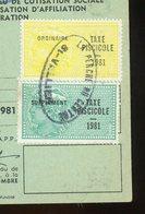 TIMBRES FISCAUX SUR CARTE FEDERALE DE PÊCHE (SAONE ET LOIRE 1981) - Revenue Stamps