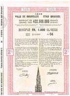 Obligation Ancienne - Ville De Bruxelles 1905 - Titre De 1955 - - Actions & Titres