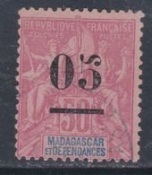 Madagascar N° 48 (.)  05 Sur 50 C. Rose, Neuf Sans Gomme Sinon   TB - Madagascar (1889-1960)