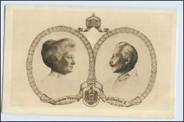 W6M90/ Kaiser Wilhelm + Viktoria 1915 Rotes Kreuz Frankfurt - Royal Families